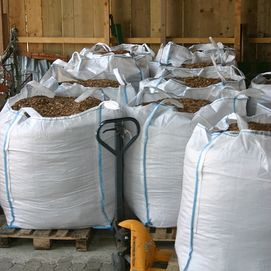 Chips de bois conditionné en big-bag